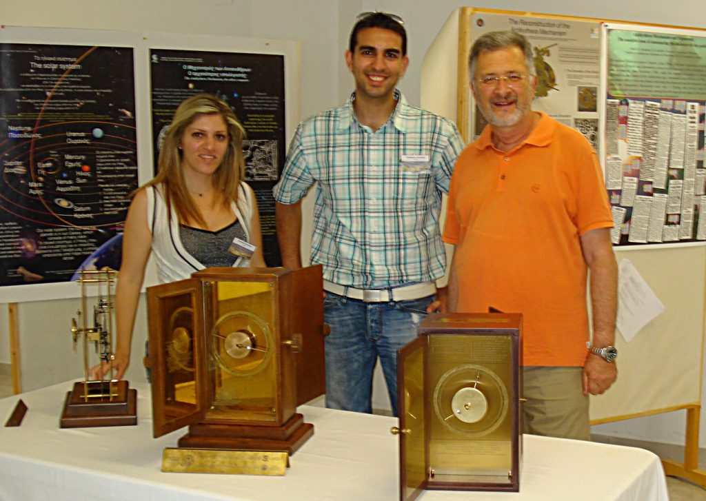 Us with our replicas and Mr. Tsavliris, one of the divers of 1976 excavations.